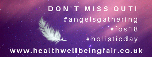 Health Wellbeing Fair an angels gathering, festival of spirit, holistic therapy day poster