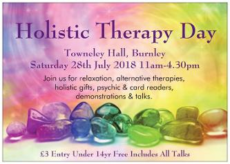 Holistic Therapy Day Towneley Hall Burnley 18th March 2018