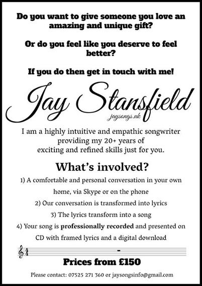 Jay Stansfield Singer & Song Writer